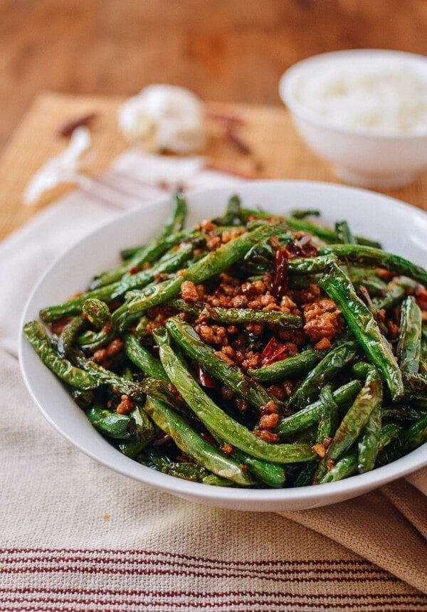 Restaurant-style Sichuan Dry Fried String Beans, by thewoksoflife.com