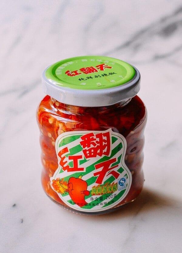 Hunan Salted Chilies (Duo Jiao), by thewoksoflife.com