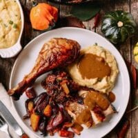 Five Spice Roast Turkey with Giblet Onion Gravy