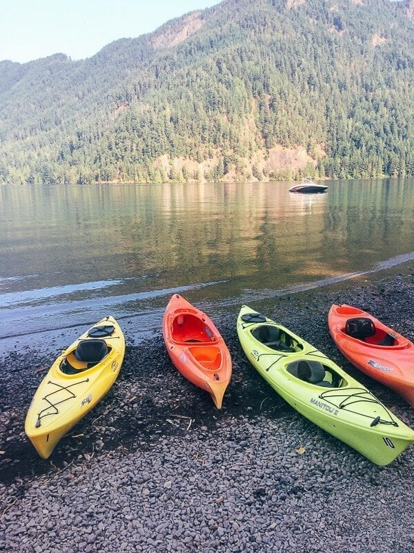 Lake Crescent Kayak Rental, by thewoksoflife.com