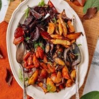 Roasted Root Vegetables with a Miso Glaze