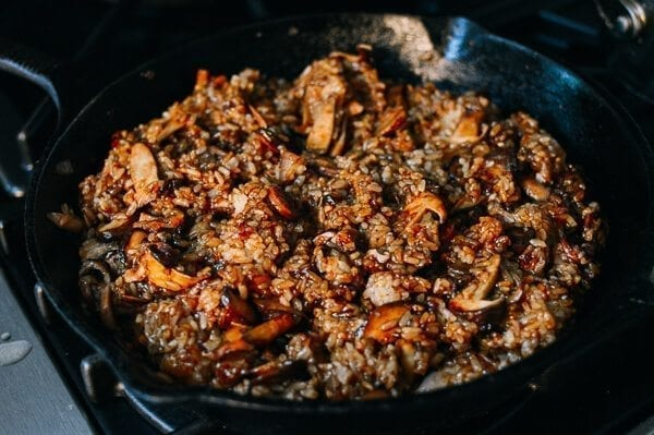 Sticky Rice Stuffing, by thewoksoflife.com