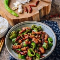 Sichuan Three Pepper Pork Belly Stir-fry, by thewoksoflife.com