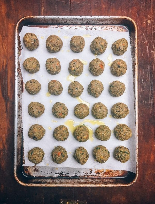 Vegetarian Meatballs, by thewoksoflife.com