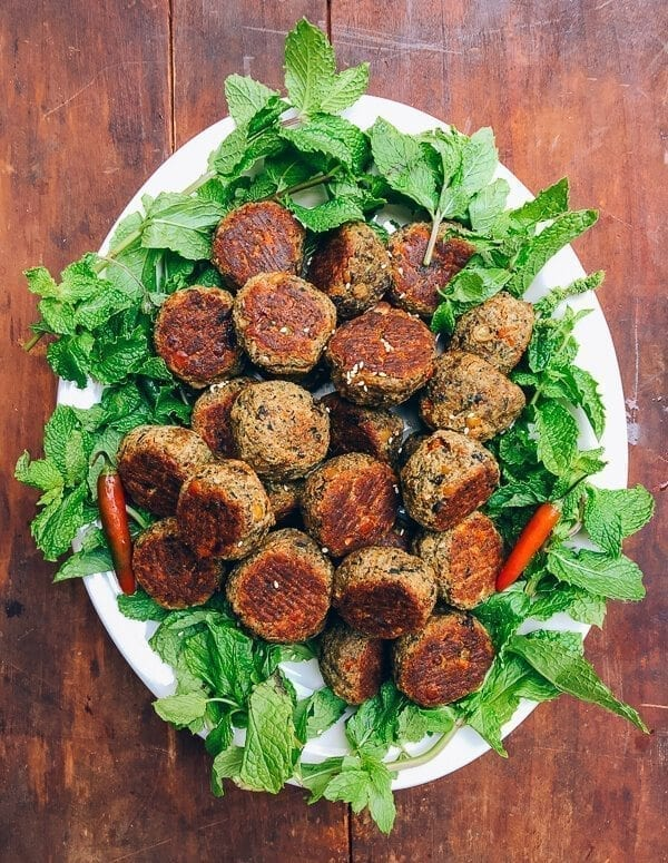 Vegetarian Meatballs with a Southeast Asian Twist
