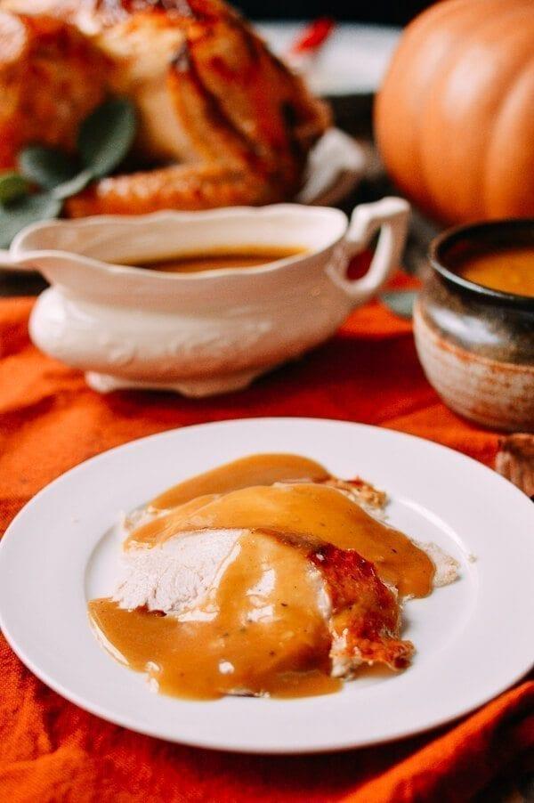 Perfect Turkey Gravy Recipe, by thewoksoflife.com