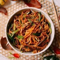 Leftover Thanksgiving Turkey Lo Mein