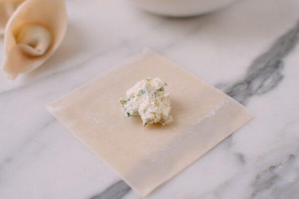 Cream Cheese Wontons, by thewoksoflife.com