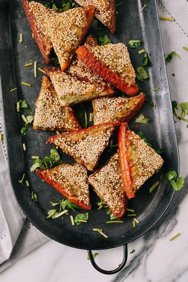 Shrimp Toast, by thewoksoflife.com