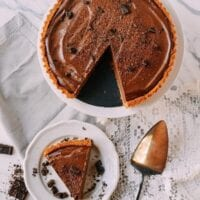 Vegan Chocolate Peanut Butter Silk Tart