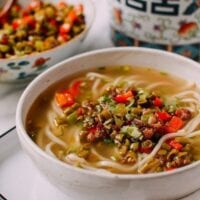 Chinese Pickled Long Bean Noodle Soup