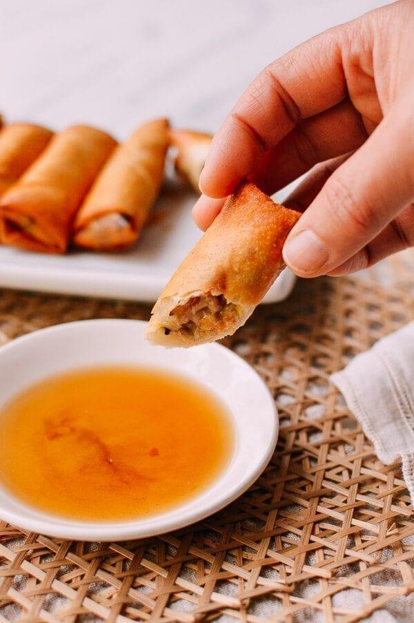 Shanghai Style Spring Rolls Recipe, by thewoksoflife.com