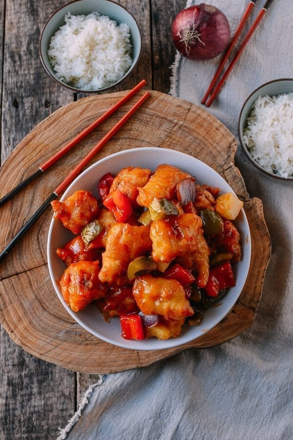 Chinese Sweet and Sour Fish Fillet Stir-fry, by thewoksoflife.com
