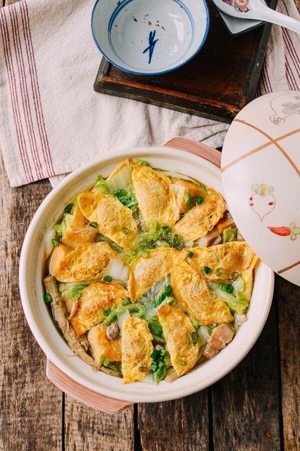 Egg Dumplings, by thewoksoflife.com