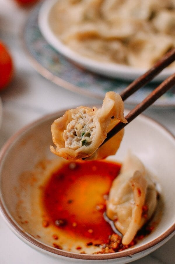 Shandong Pork and Fish Dumplings, by thewoksoflife.com