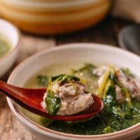 Chinese Watercress Soup with Pork Ribs (Sai Yeung Choy Tong), by thewoksoflife.com