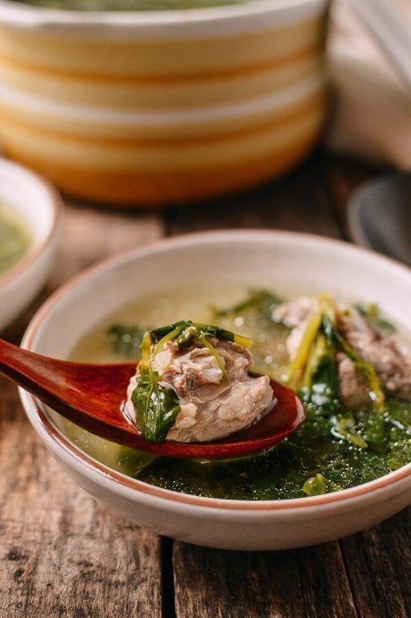 Chinese Watercress Soup with Pork Ribs (Sai Yeung Choy Tong)