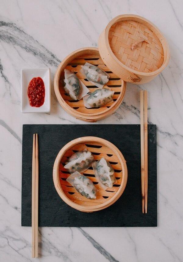 Steamed Crystal Dumplings, by thewoksoflife.com