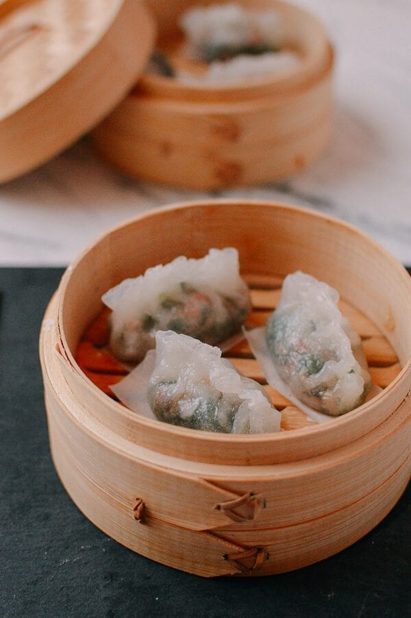 Steamed Crystal Dumplings, by thewoksoflife.com