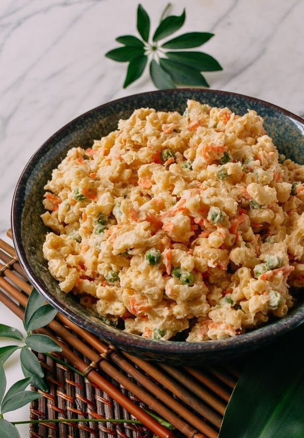 Hawaiian Mac Salad, by thewoksoflife.com