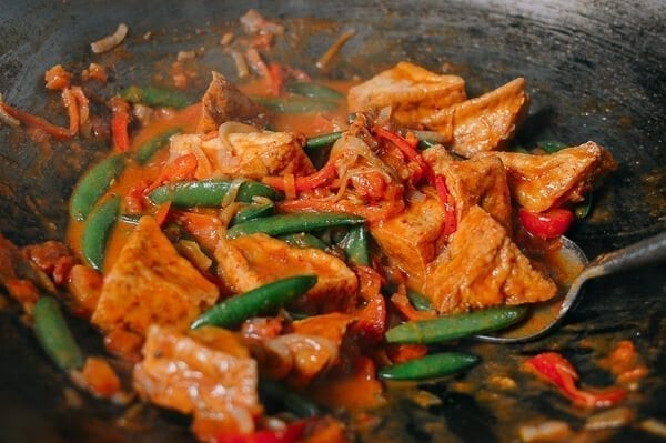Red Curry Tofu, by thewoksoflife.com