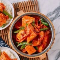 Red Curry Tofu (A Vegan Recipe!)