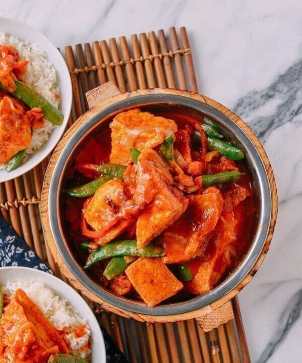 Red Curry Tofu, by thewoksoflife.com