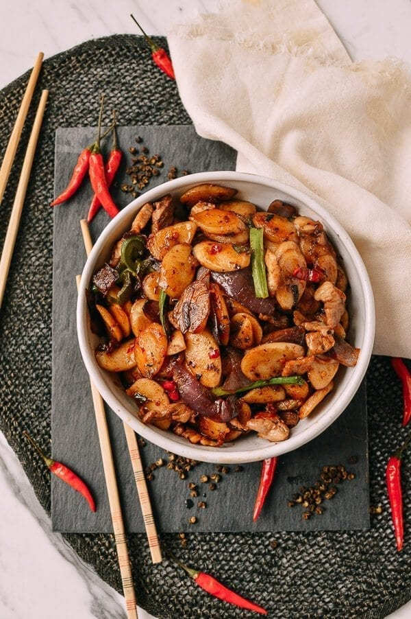 Spicy Stir-fried Rice Cakes, by thewoksoflife.com