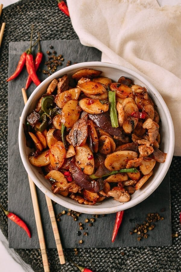 Spicy Stir-fried Rice Cakes, by thewoksoflife.com