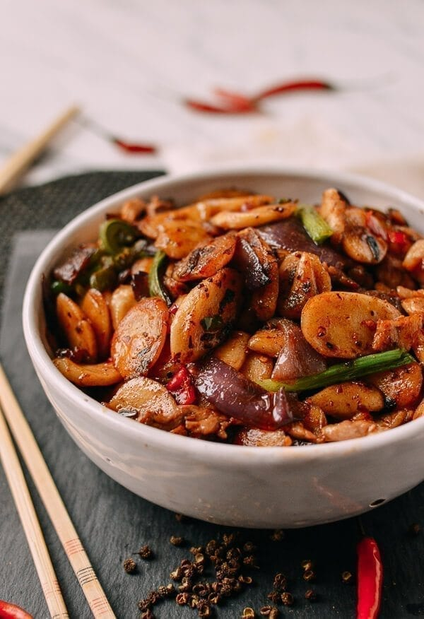 Spicy Stir-fried Rice Cakes