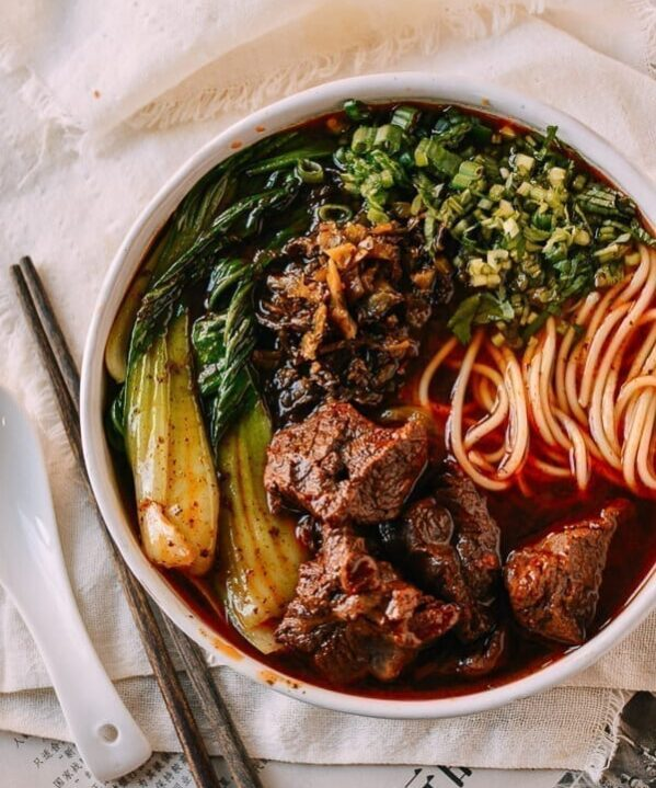 Taiwanese Beef Noodle Soup (Instant Pot), by thewoksoflife.com