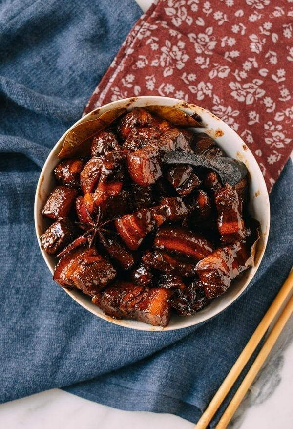 Chairman Mao's Red Braised Pork Belly, by thewoksoflife.com