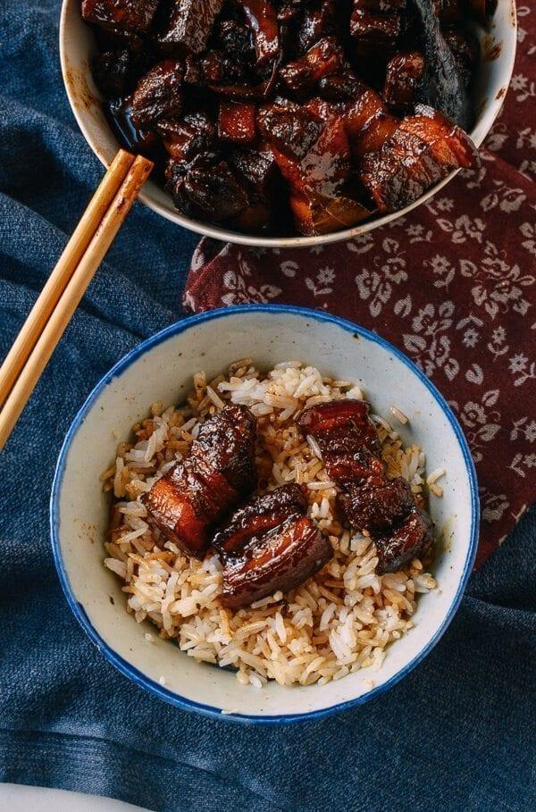 Chairman Mao's Red Braised Pork Belly, by thewoksoflife.com