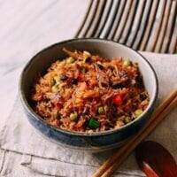 One Pot Rice Cooker Rice with Dace Fish
