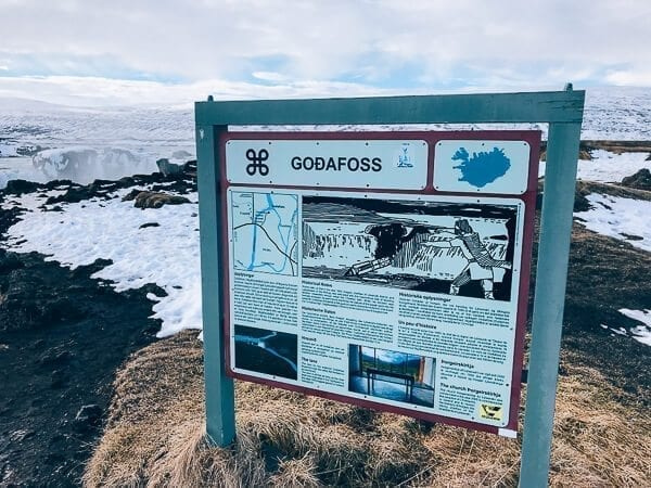 Godafoss Sign