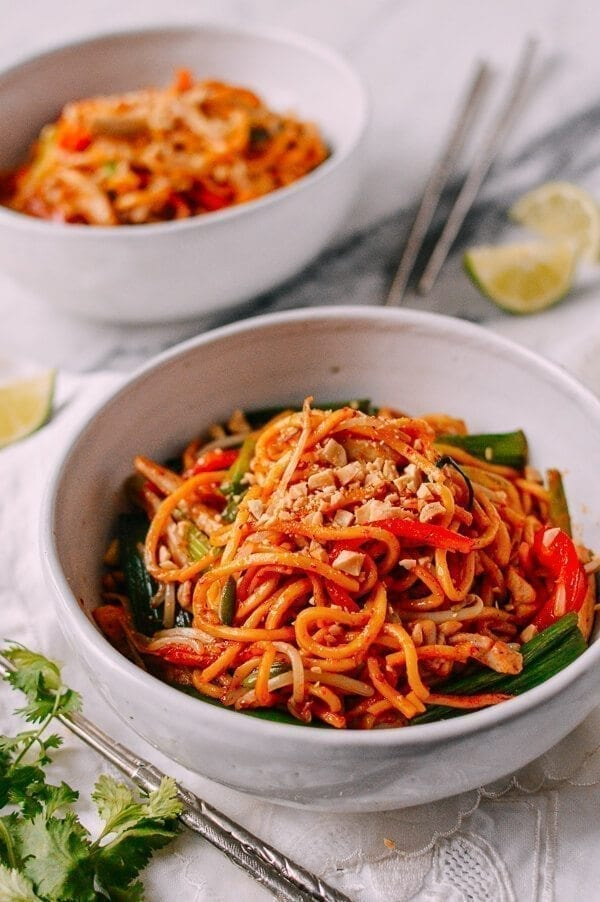 Red Curry Noodles with Chicken