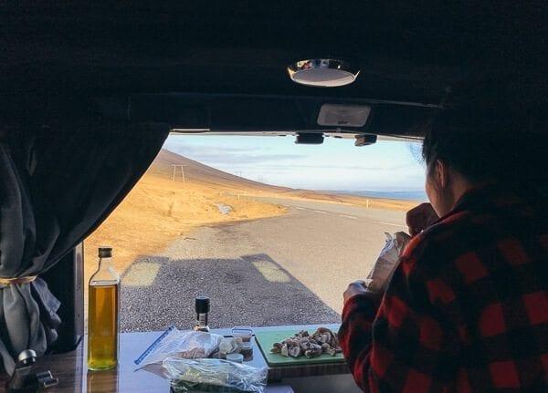 Iceland Camper Van Cooking