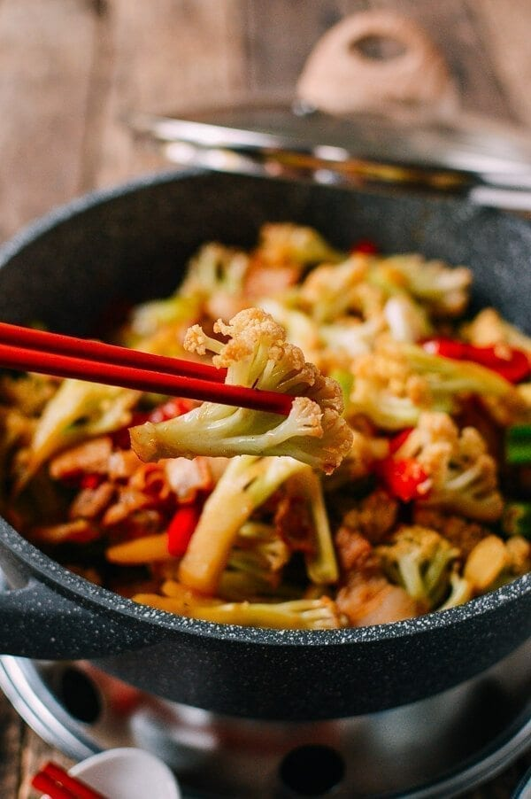 Chinese Dry Pot Cauliflower, by thewoksoflife.com