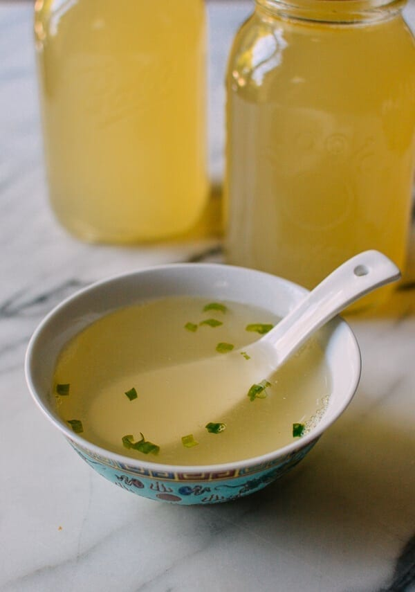 Pork and Chicken Stock, by thewoksoflife.com