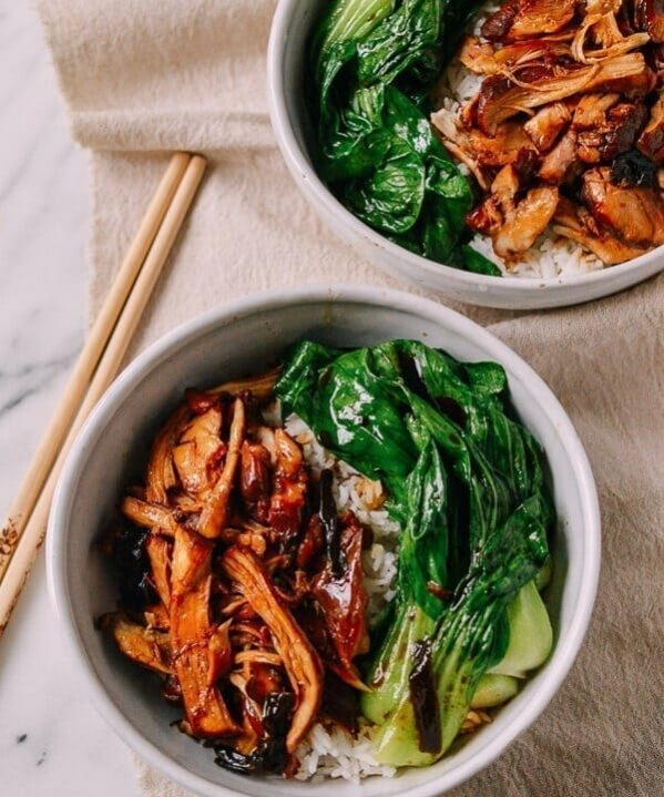 Instant Pot Soy Sauce Chicken Bowls, by thewoksoflife.com