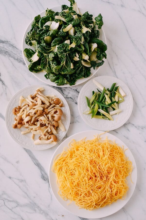 Vegetable Chow Mein Noodles, by thewoksoflife.com