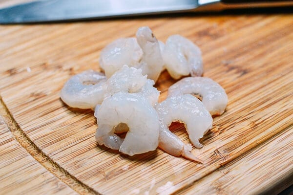 peeled and cleaned shrimp
