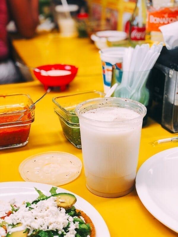 Tostadas Coyoacan Horchata