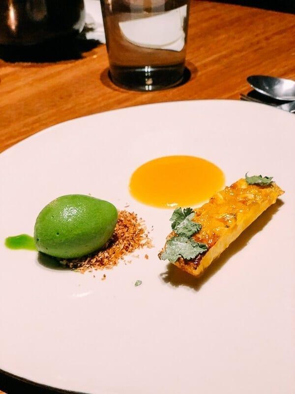 Pujol Grilled Pineapple Dessert