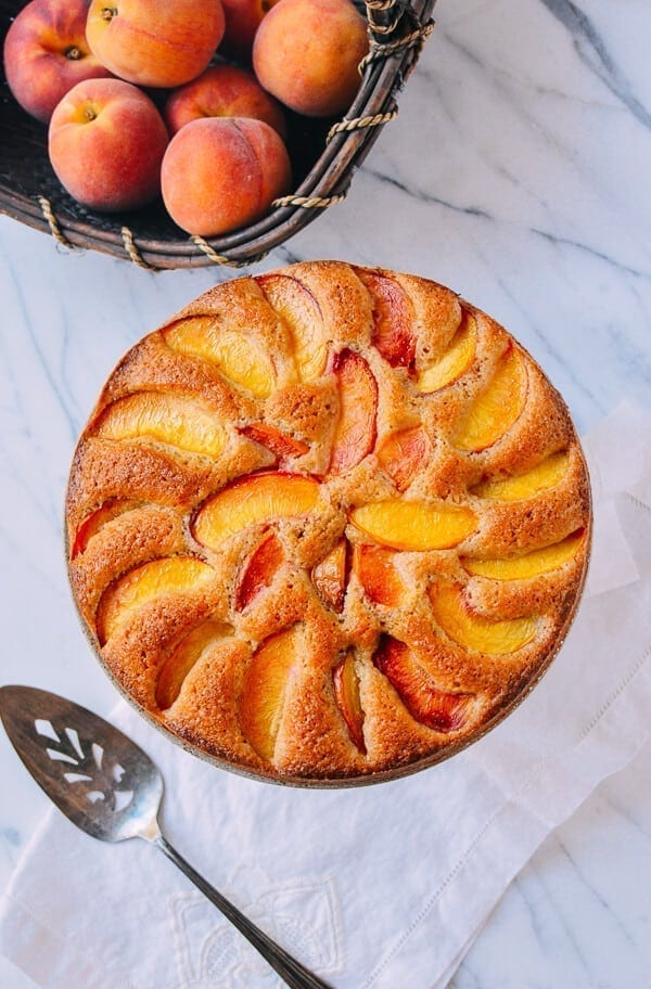 Peach Cake, by thewoksoflife.com