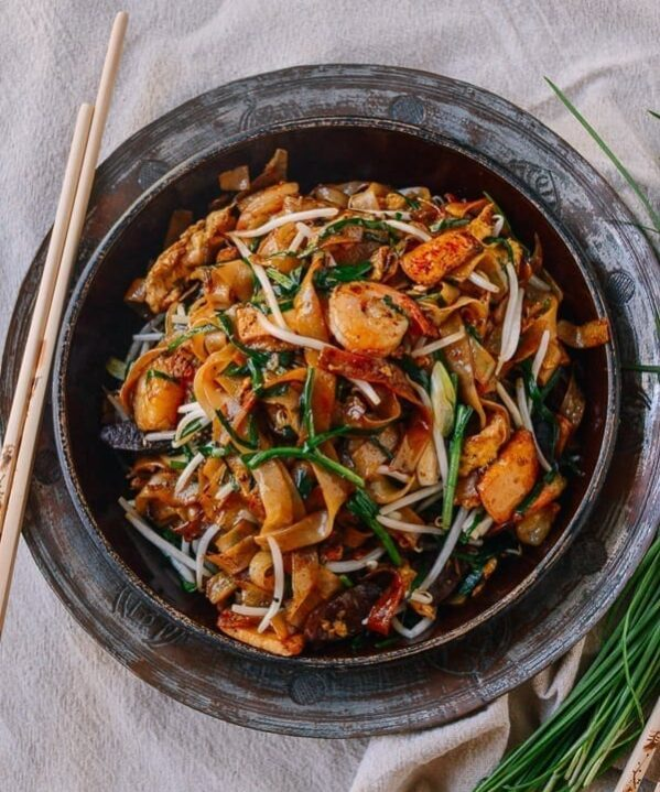 Char Kway Teow Malaysian Stir-fried Rice Noodles, by thewoksoflife.com