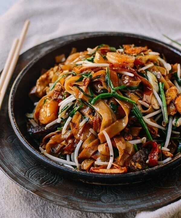 Char Kway Teow Stir-fried Rice Noodles, by thewoksoflife.com