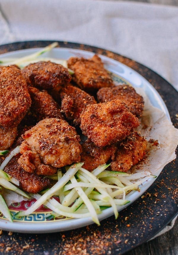 Homemade Chicken Nuggets with Sichuan Spices, by thewoksoflife.com