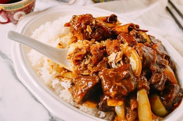 Instant Pot Braised Curry Beef, by thewoksoflife.com