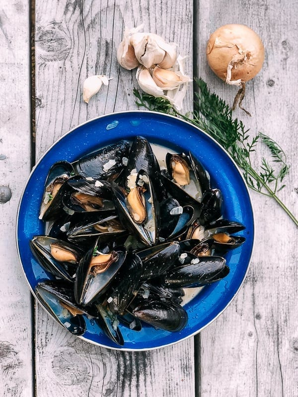 Steamed Mussels from Prince Edward Island